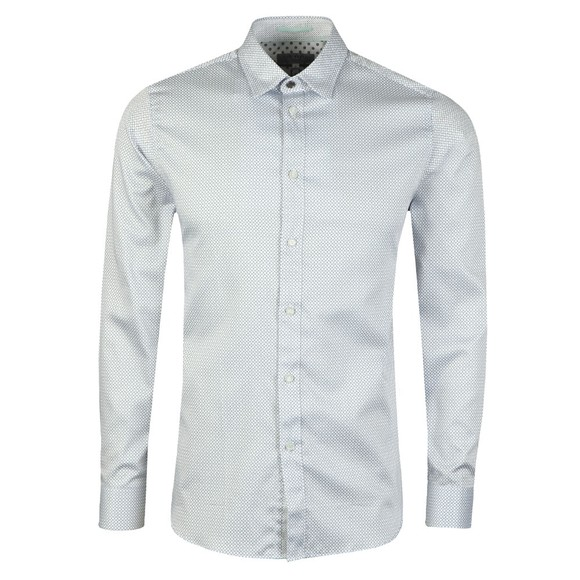 Ted Baker Mens White Geo Print Shirt main image