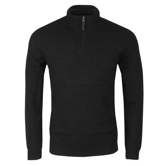 Ted Baker Mens Black Tunnel Textured Funnel Neck Jumper main image