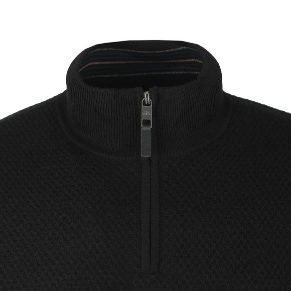 Ted Baker Mens Black Tunnel Textured Funnel Neck Jumper