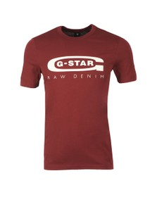 G-Star Mens Red Graphic 4 Slim T-Shirt