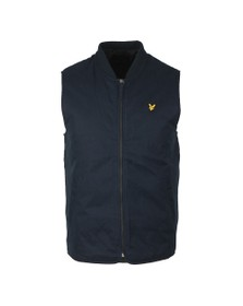 Lyle and Scott Mens Blue Wadded Gilet
