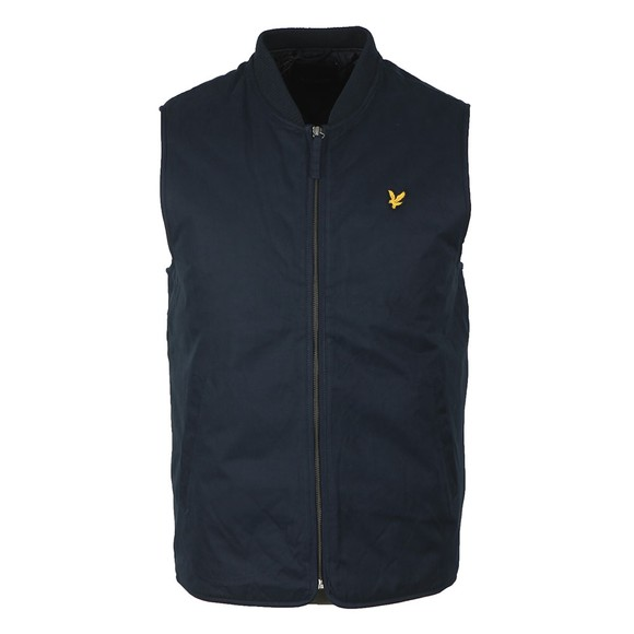 Lyle and Scott Mens Blue Wadded Gilet main image