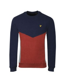 Lyle and Scott Mens Blue Multi Panel Sweatshirt
