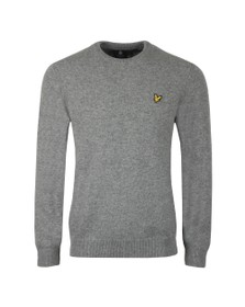 Lyle and Scott Mens Grey Crew Neck Jumper