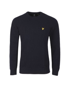 Lyle and Scott Mens Blue Crew Neck Jumper