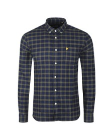 Lyle and Scott Mens Blue Check Flannel Shirt