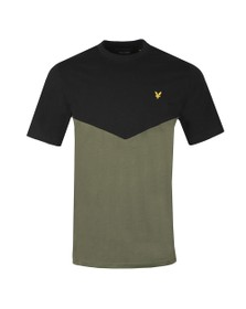 Lyle and Scott Mens Black Multi Panel T-Shirt