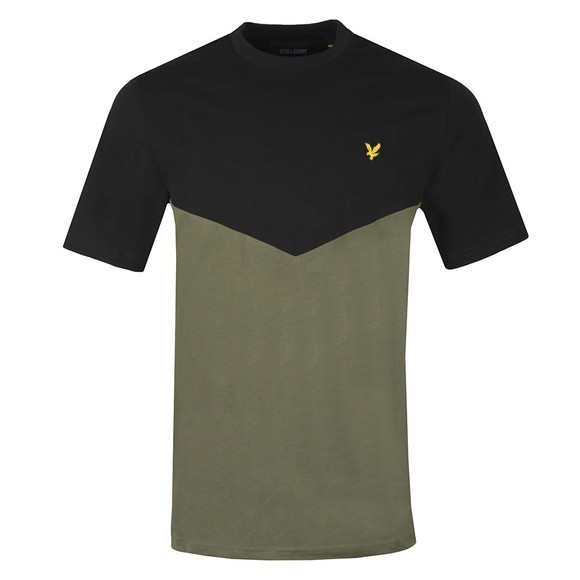 Lyle and Scott Mens Black Multi Panel T-Shirt main image