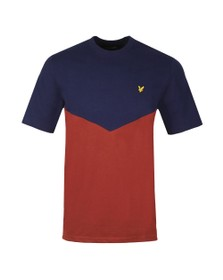 Lyle and Scott Mens Blue Multi Panel T-Shirt