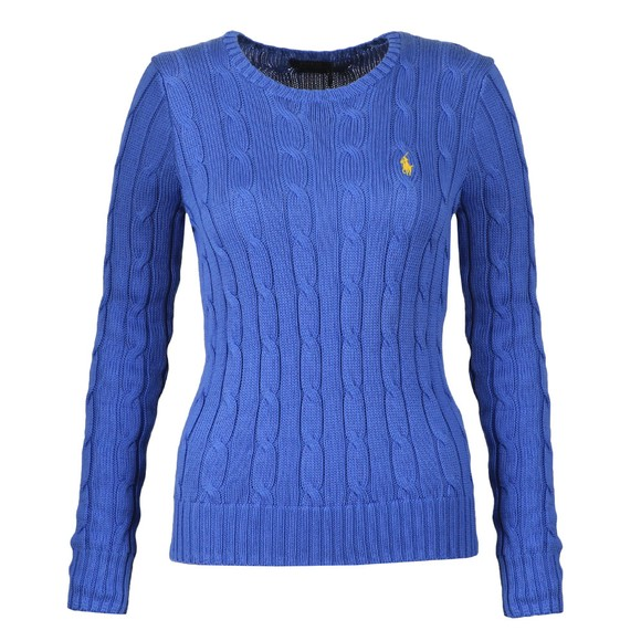 Polo Ralph Lauren Womens Blue Julianna Cable Knit Jumper main image