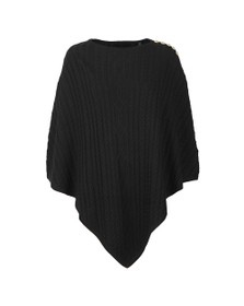 Holland Cooper Womens Black The Windsor Knit Wrap