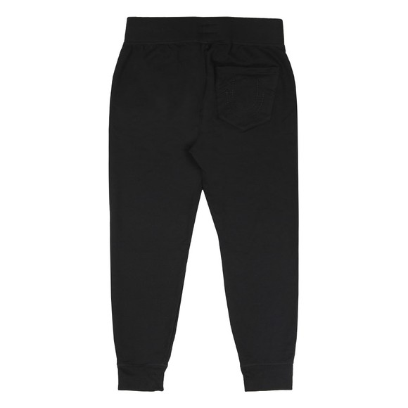 True Religion Mens Black Felt Logo Jogger