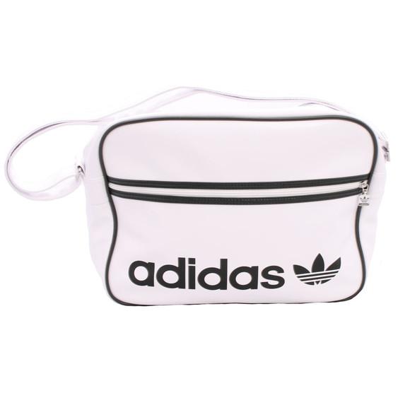 adidas Originals Mens White Adidas White AC Airline Bag f95dcc85e7aa0