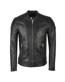 Superdry Mens Black City Hero Leather Jacket