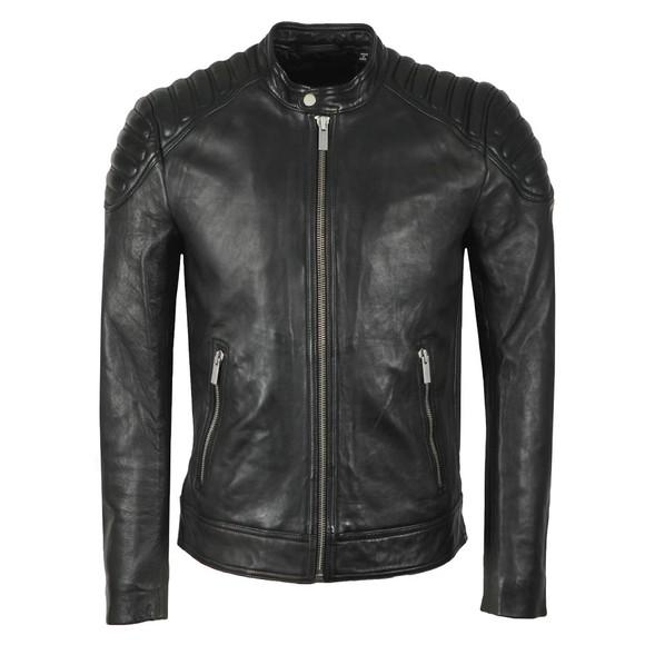 Superdry Mens Black City Hero Leather Jacket main image
