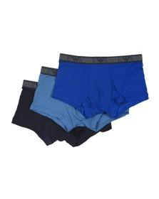 Emporio Armani Mens Blue 3 Pack Stretch Cotton Trunk