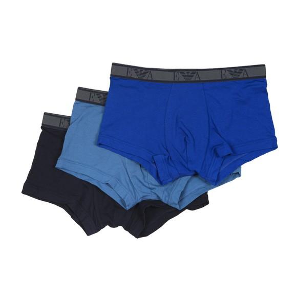 Emporio Armani Mens Blue 3 Pack Stretch Cotton Trunk main image