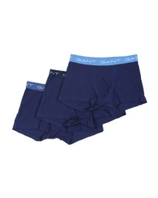Gant Mens Blue 3 Pack of Trunks