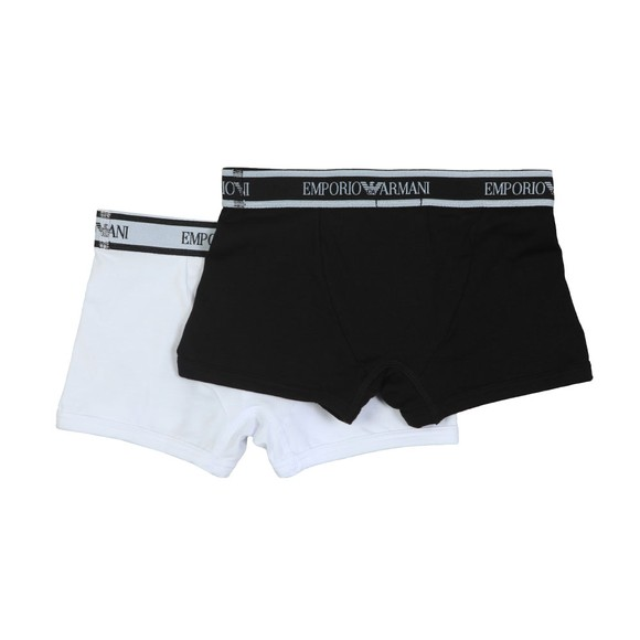 Emporio Armani Boys White Boys 2 Pack Trunk