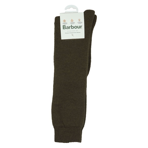 Barbour Lifestyle Mens Green Wellington Knee Sock