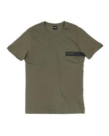 BOSS Bodywear Mens Green Basic Loungewear T Shirt