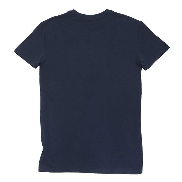 Emporio Armani Mens Blue Split Megalogo T Shirt main image