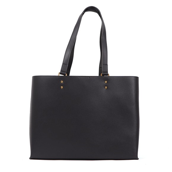 Love Moschino Womens Black Plaque Tote main image