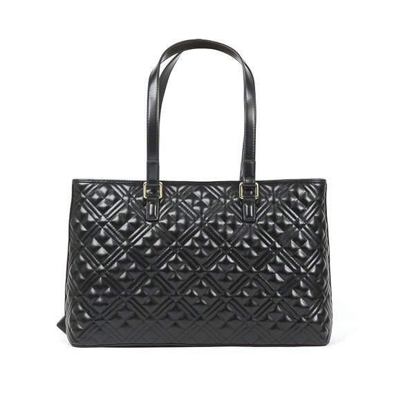 Love Moschino Womens Black Cross Quilted Shoulder Bag