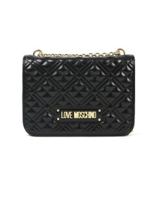 Love Moschino Womens Black Cross Quilted Small Bag