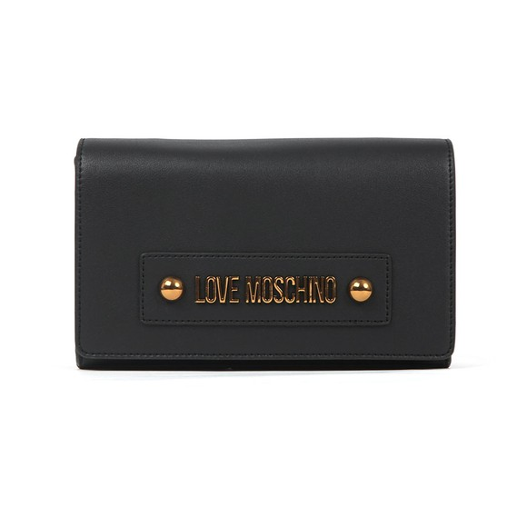 Love Moschino Womens Black Plaque Small Shoulder Bag main image