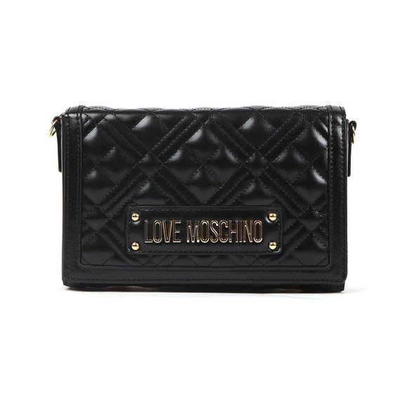 Love Moschino Womens Black Cross Quilted Clutch bag