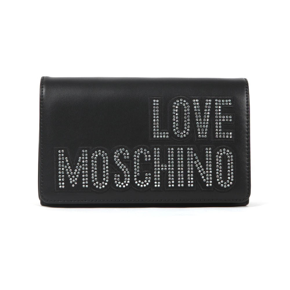 Diamante Logo Clutch Bag main image