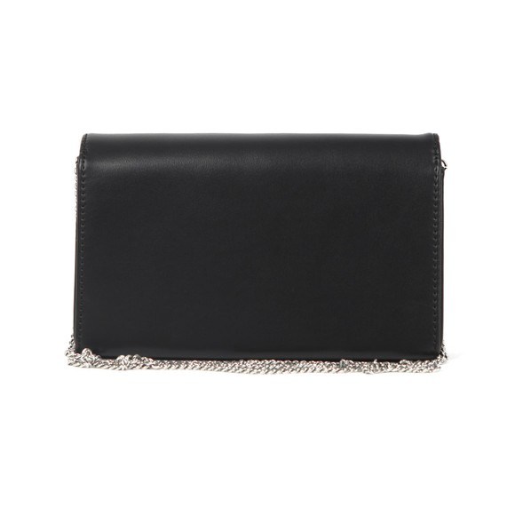 Love Moschino Womens Black Diamante Logo Clutch Bag main image