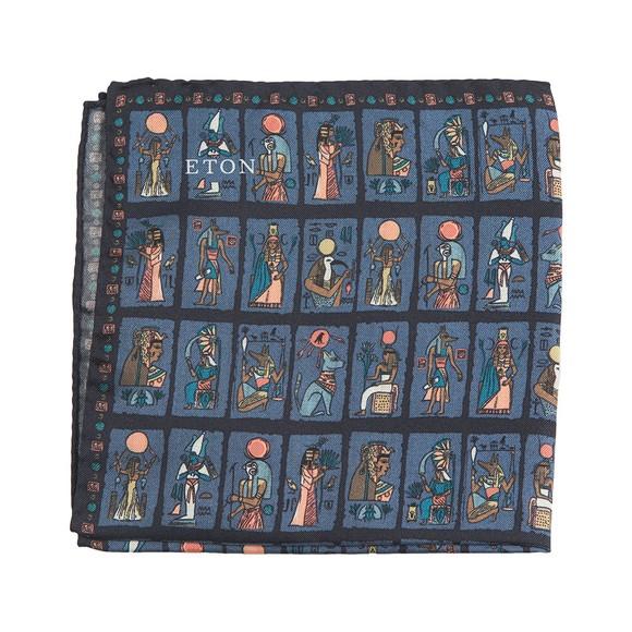 Eton Mens Blue Egyptian Pocket Square