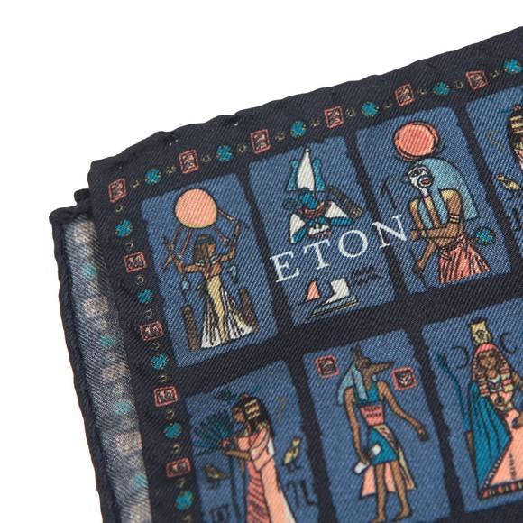 Eton Mens Blue Egyptian Pocket Square main image