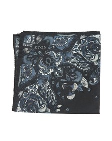 Eton Mens Blue Flower Pocket Square