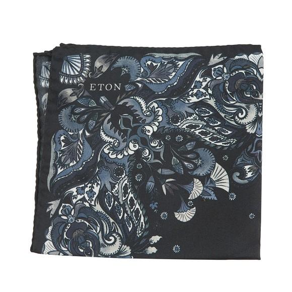 Eton Mens Blue Flower Pocket Square main image
