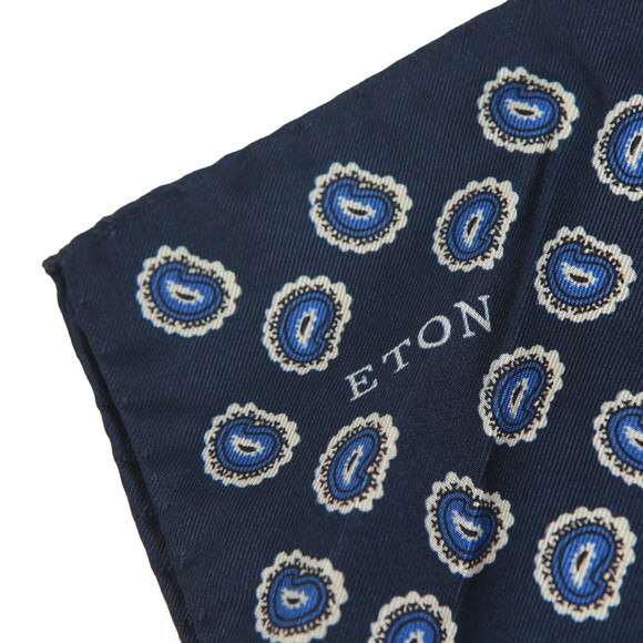 Eton Mens Blue Pocket Square main image