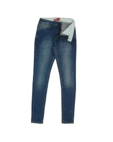 Eleven Degrees Mens Blue Super Stretch Skinny Jean