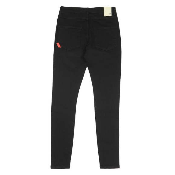 Eleven Degrees Mens Black Super Stretch Skinny Jean main image