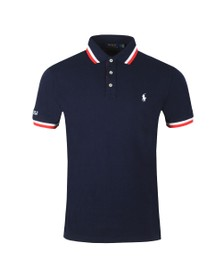 Polo Ralph Lauren Mens Blue Small Logo Coloured Tipped Polo Shirt