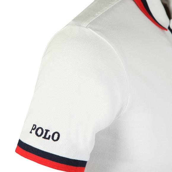 Polo Ralph Lauren Mens White Small Logo Coloured Tipped Polo Shirt