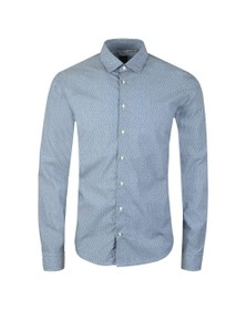 BOSS Mens Blue Casual Mypop Logo Shirt
