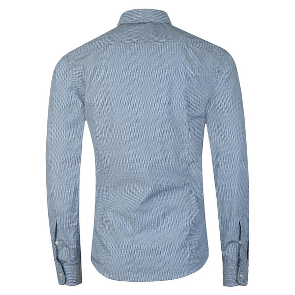 BOSS Mens Blue Casual Mypop Logo Shirt main image