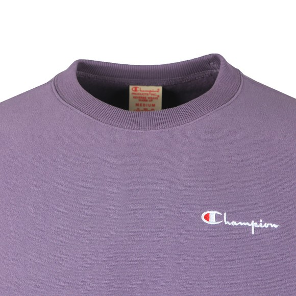 Champion Reverse Weave Mens Purple Small Script Logo Sweatshirt main image