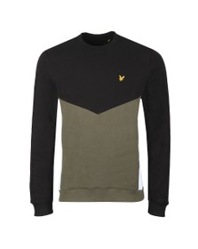 Lyle and Scott Mens Black Multi Panel Sweatshirt