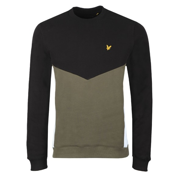Lyle and Scott Mens Black Multi Panel Sweatshirt main image