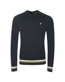 Lyle and Scott Mens Blue Multi Rib Knitted Jumper