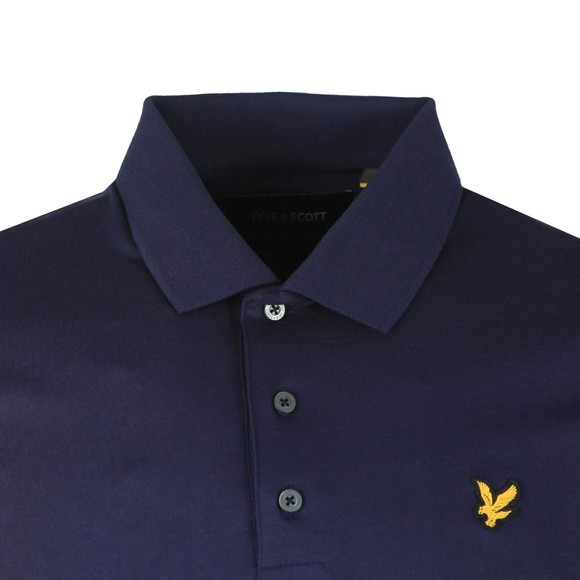 Lyle and Scott Mens Blue Mercerised Polo Shirt