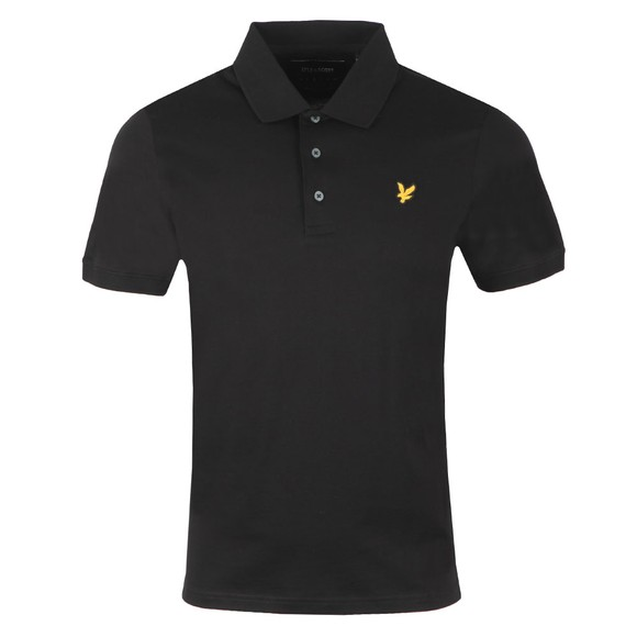 Lyle and Scott Mens Black Mercerised Polo Shirt main image